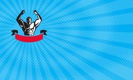 Tarjeta de Flex Gym Business stock de ilustración