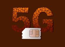 tarjeta de 5G SIM Fotos de archivo libres de regalías