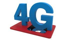 tarjeta de 4G SIM Foto de archivo libre de regalías