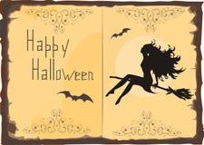 Tarjeta de Halloween Fotos de archivo