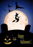 Tarjeta de Halloween ilustración del vector