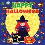 Tarjeta de Halloween Imagen de archivo