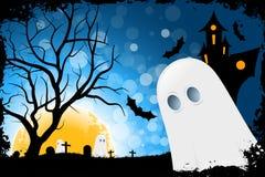 Tarjeta de Halloween del Grunge Imagenes de archivo