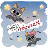 Tarjeta de Halloween del saludo con dos palos stock de ilustración