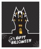 Tarjeta de Halloween del vector Imágenes de archivo libres de regalías