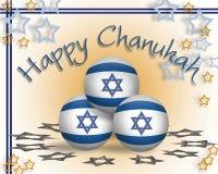 Tarjeta de Hanukkah Fotos de archivo
