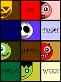 Tarjeta de Helloween fotos de archivo