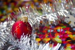 Tarjeta de Hristmas, Año Nuevo, la Navidad Fotografía de archivo