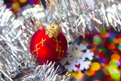 Tarjeta de Hristmas, Año Nuevo, la Navidad Imagen de archivo libre de regalías