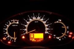 Tarjeta de indicador auto Foto de archivo