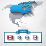 Tarjeta de información de Canadá Imagenes de archivo