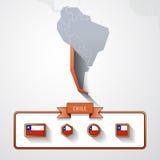 Tarjeta de información de Chile Foto de archivo