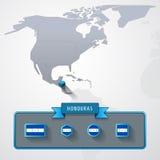 Tarjeta de información de Honduras Fotos de archivo