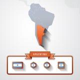 Tarjeta de información de la Argentina Imagen de archivo libre de regalías