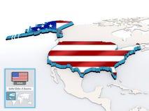 Tarjeta de información de los E.E.U.U. Imagen de archivo libre de regalías