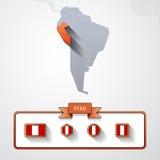Tarjeta de información de Perú Imagen de archivo libre de regalías
