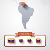 Tarjeta de información de Venezuela Imágenes de archivo libres de regalías