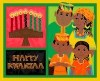 Tarjeta de Kwanzaa ilustración del vector