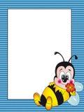 Tarjeta de la abeja Fotos de archivo libres de regalías