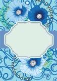 Tarjeta de la amapola, diseño de la invitación EPS 10 Imagenes de archivo