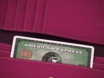 Tarjeta de la American Express Foto de archivo