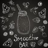Tarjeta de la barra, caf? del verano stock de ilustración