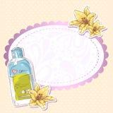 Tarjeta de la botella del maquillaje de Skincare ilustración del vector