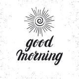 Tarjeta de la buena mañana Fotos de archivo libres de regalías