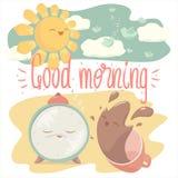 Tarjeta de la buena mañana ilustración del vector