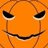 Tarjeta de la calabaza de Halloween stock de ilustración
