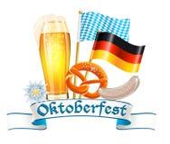 Tarjeta de la celebración de Oktoberfest Fotos de archivo