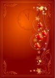 Tarjeta de la celebración del Año Nuevo Foto de archivo