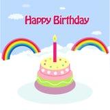 Tarjeta de la celebración del cumpleaños libre illustration
