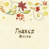 Tarjeta de la celebración del día de la acción de gracias Fotos de archivo libres de regalías
