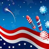 tarjeta de la celebración del Día de la Independencia Imagen de archivo