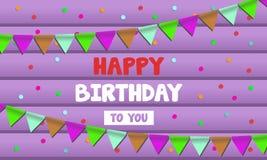 Tarjeta de la celebración del feliz cumpleaños Imagen de archivo libre de regalías