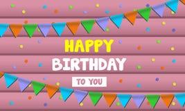 Tarjeta de la celebración del feliz cumpleaños ilustración del vector