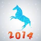 Tarjeta 2014 de la celebración del Año Nuevo Fotografía de archivo