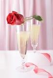 Tarjeta de la celebración del día de tarjeta del día de San Valentín Imagen de archivo libre de regalías