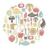 Tarjeta de la comida Fotografía de archivo