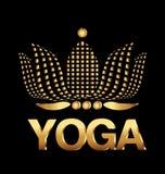 Tarjeta de la compañía de la flor de loto de la yoga Foto de archivo libre de regalías