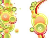 Tarjeta de la composición de las burbujas y de los círculos de la fantasía libre illustration