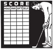 Tarjeta de la cuenta del golf libre illustration