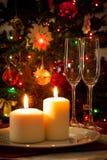 Tarjeta de la decoración de la Navidad Fotos de archivo libres de regalías