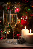 Tarjeta de la decoración de la Navidad Fotos de archivo