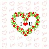 Tarjeta de la tarjeta del día de San Valentín del amor foto de archivo