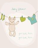 Tarjeta de la ducha de bebé Imagenes de archivo