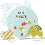 Tarjeta de la ducha de bebé Foto de archivo