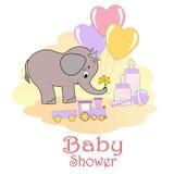 Tarjeta de la ducha de bebé. Fotos de archivo