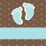 Tarjeta de la ducha de bebé Imágenes de archivo libres de regalías